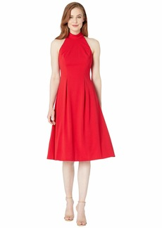 Calvin Klein Mock Halter Neck Midi Dress