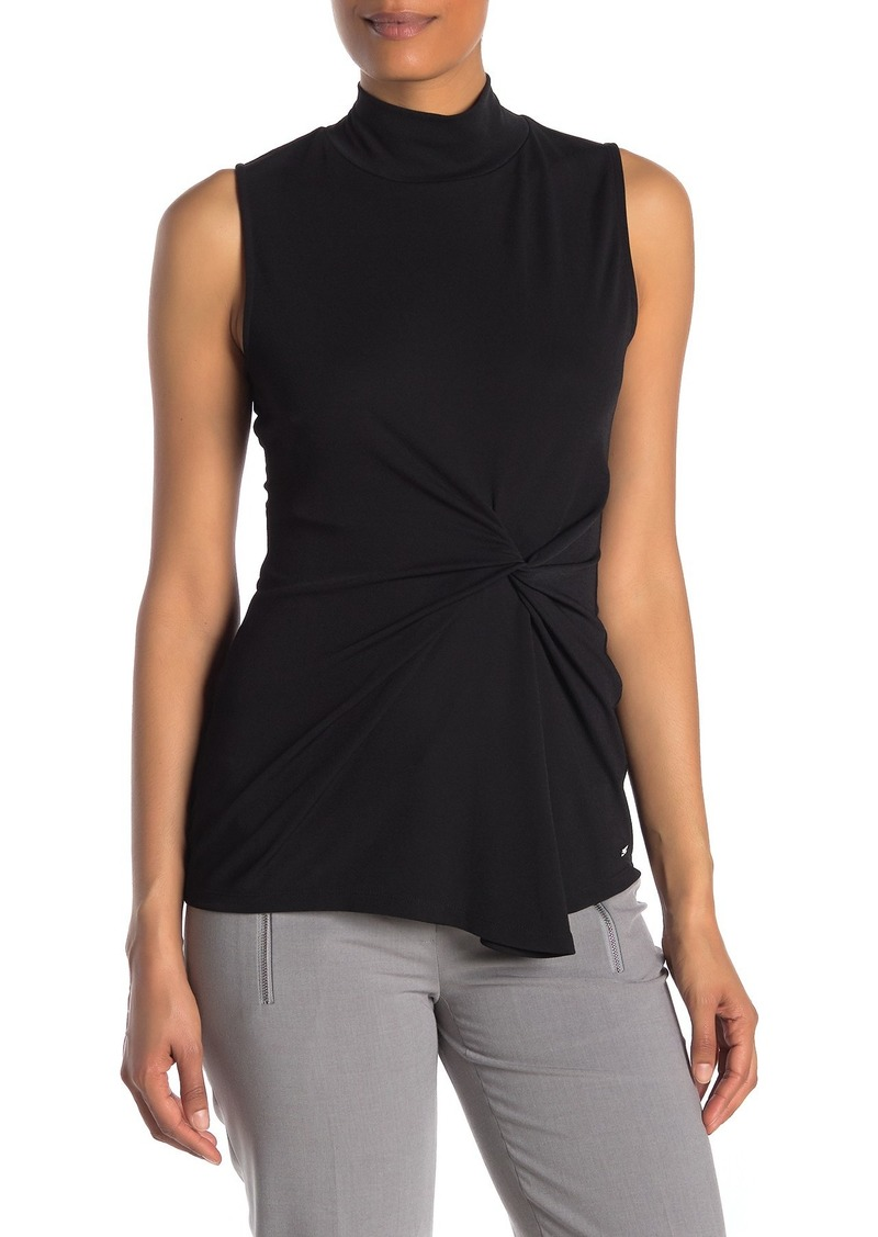 Calvin Klein Mock Neck Sleeveless Knit Top