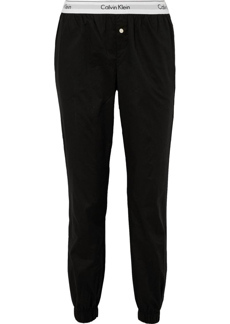Calvin Klein Modern Cotton-poplin Track Pants