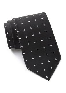 Calvin Klein Modern Square Dobby Silk Tie