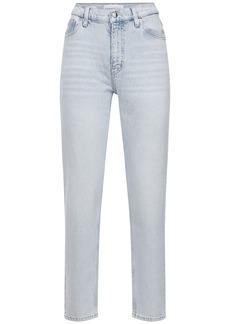 Calvin Klein Mom Fit Cotton Denim Straight Jeans