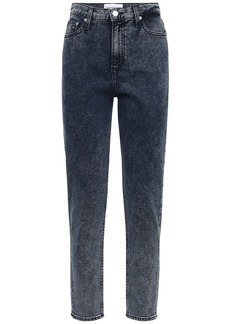 Calvin Klein Mom Stretch Cotton Denim Straight Jeans