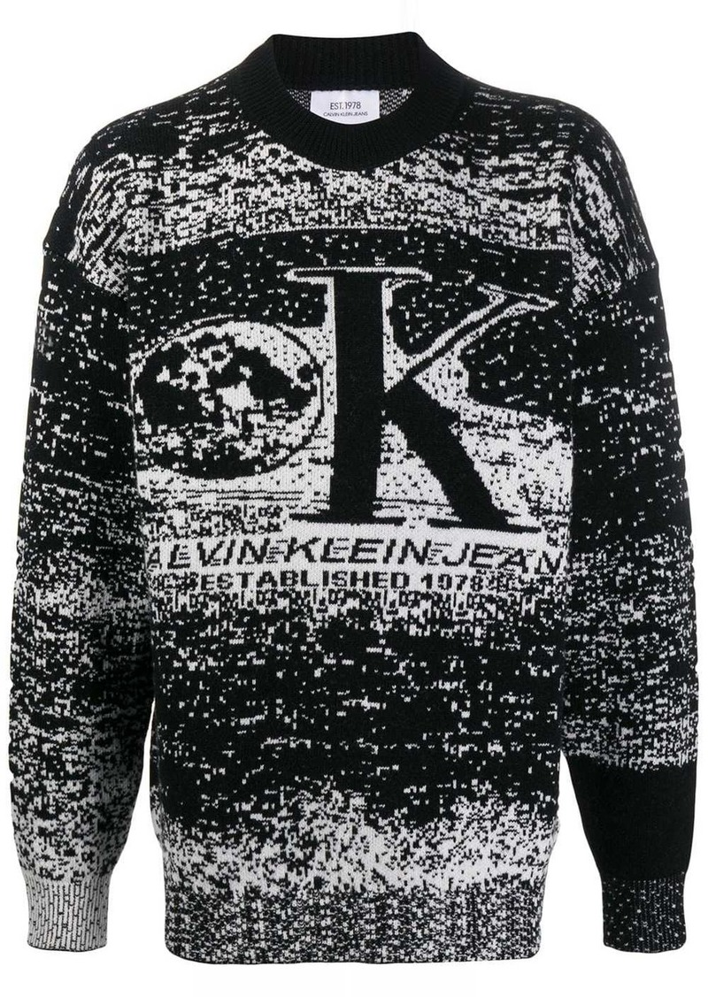 Calvin Klein monochrome knit sweater