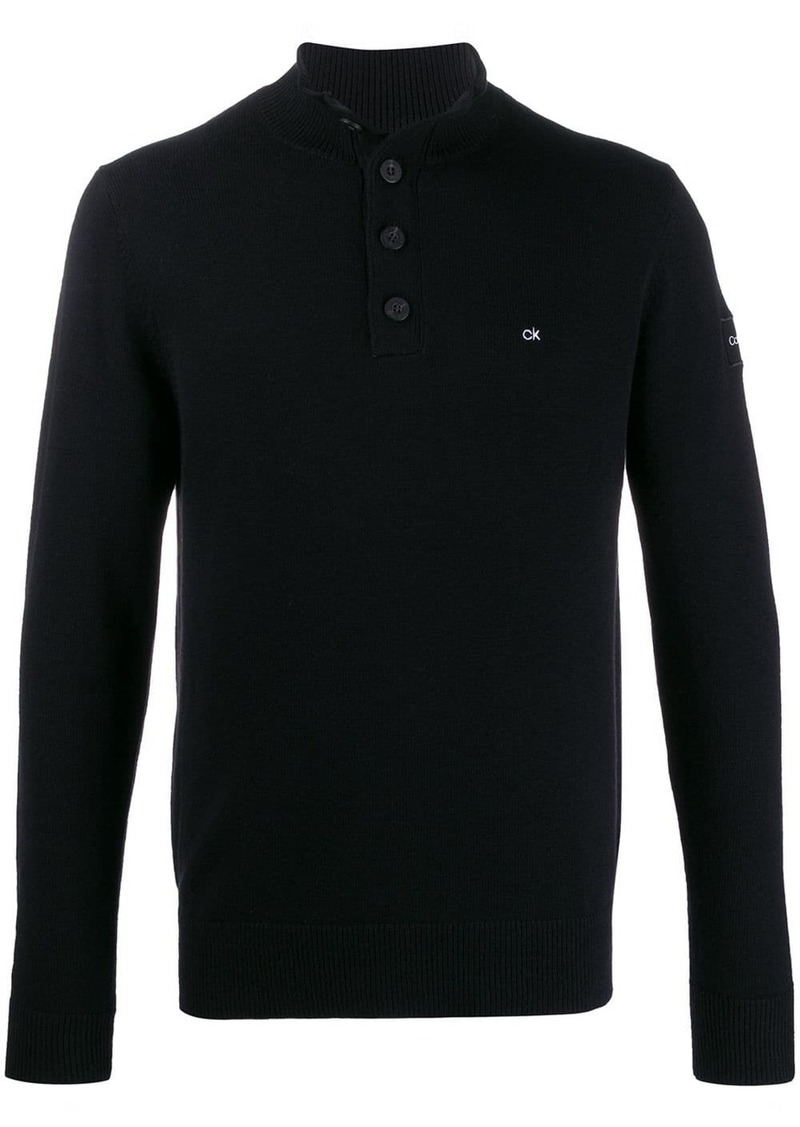 Calvin Klein monogram embroidery jumper