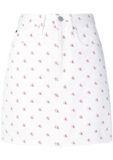 Calvin Klein monogram print skirt
