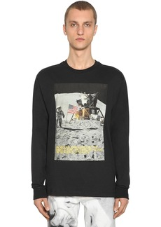 Calvin Klein Moon Landing Print Cotton Blend T-shirt