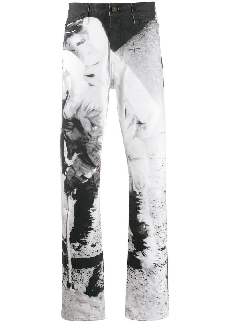Calvin Klein Moon Landing print jeans