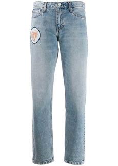 Calvin Klein multi-patches boyfriend jeans
