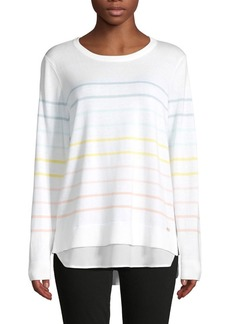 Calvin Klein Multi-Striped Layered Sweater