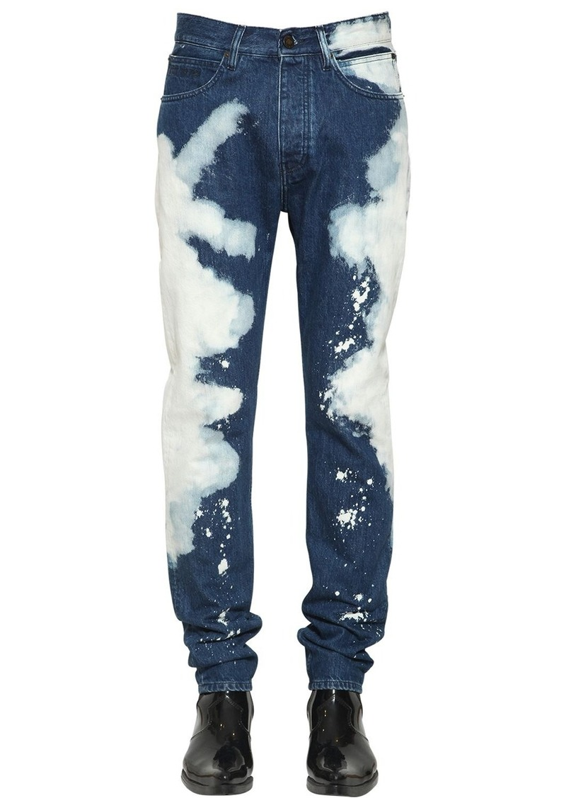 Calvin Klein Narrow Bleached Cotton Denim Jeans