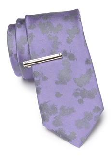 Calvin Klein Natural Bouquet Silk Tie