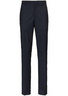 Calvin Klein navy wide leg side strip trousers