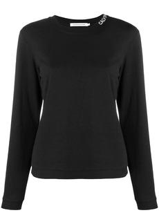 Calvin Klein neck logo long-sleeve T-shirt