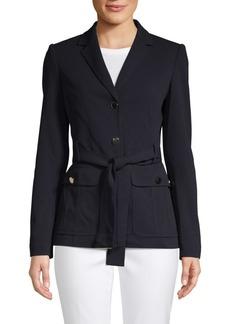 Calvin Klein Notch Self-Tie Jacket