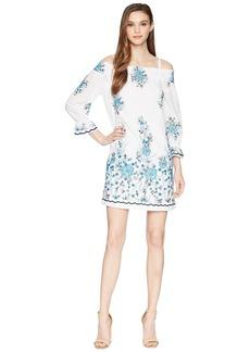 Calvin Klein Off Shoulder Embroidered Dress CD8G11HX