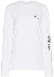 Calvin Klein ok logo print long sleeve t-shirt