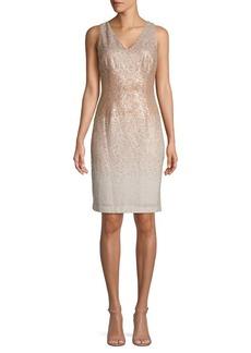 Calvin Klein Ombré Sequin Mini Sheath Dress
