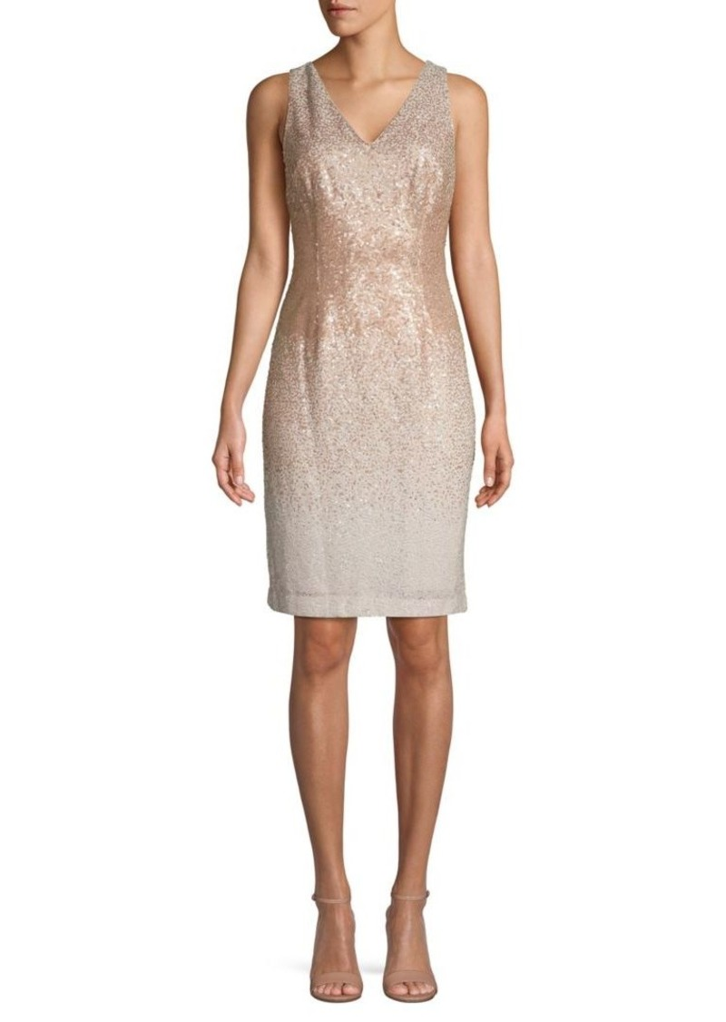 Calvin Klein Ombré Sequin Mini Sheath Dress