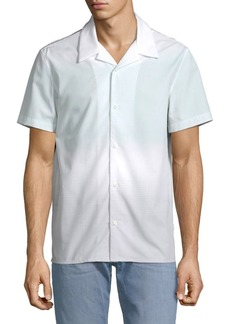 Calvin Klein Ombre Cotton Camp Shirt