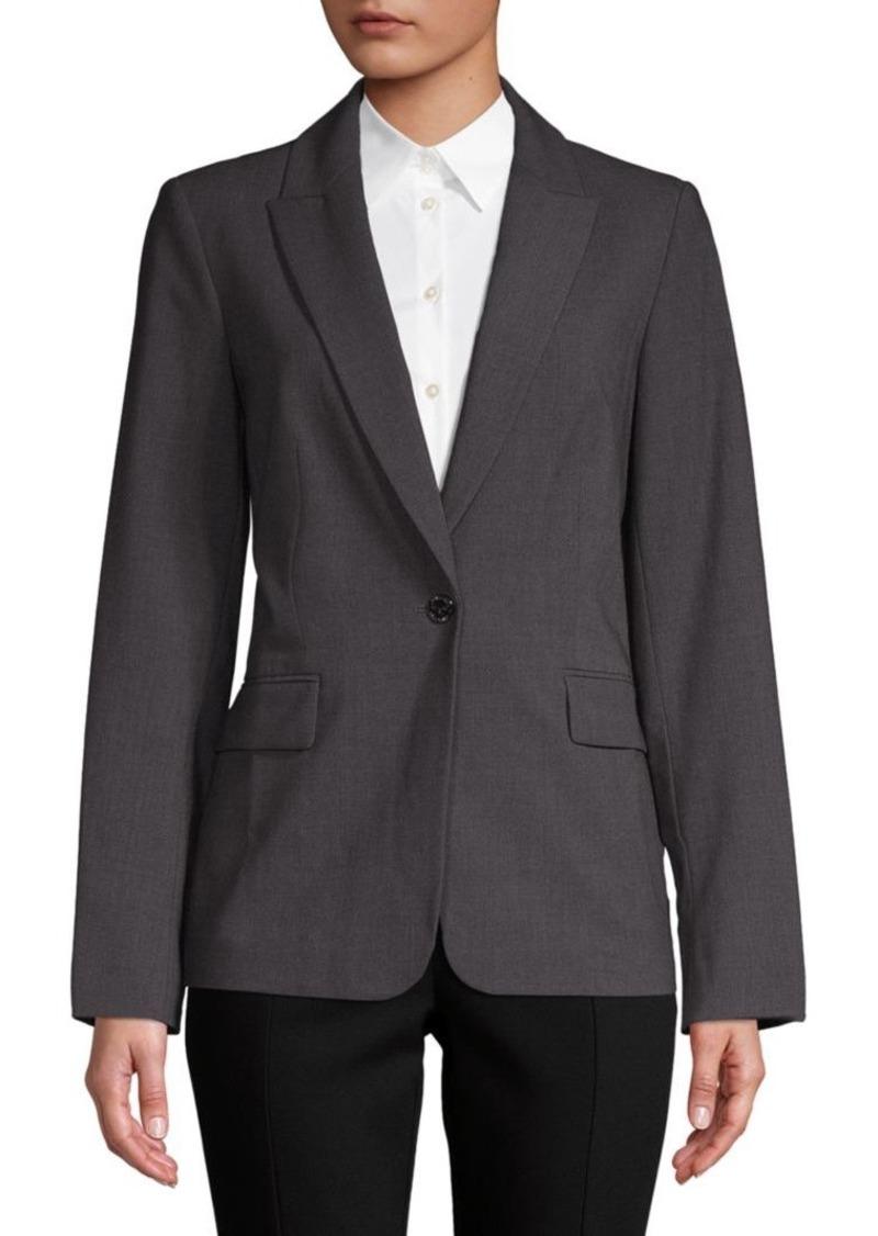 Calvin Klein One-Button Blazer