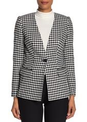 Calvin Klein One Button Houndstooth Jacket