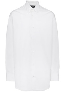 Calvin Klein optic white logo back shirt