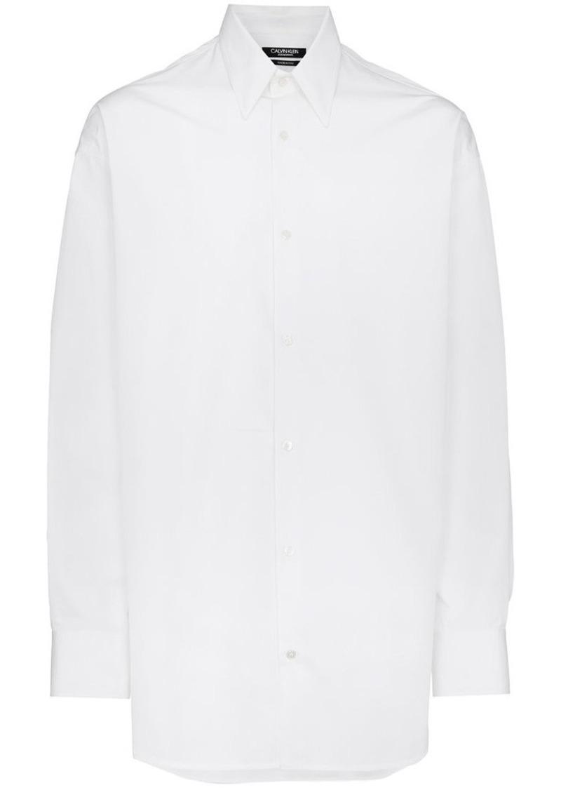 Calvin Klein optic white logo back shirt