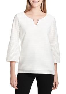 Calvin Klein Ottoman Bell-Sleeve Top