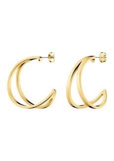 Calvin Klein Outline Split Hoop Earrings