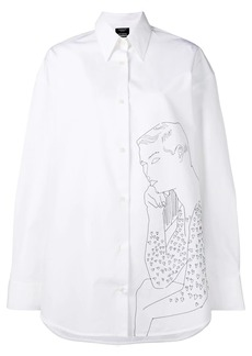 Calvin Klein oversized embroidered shirt