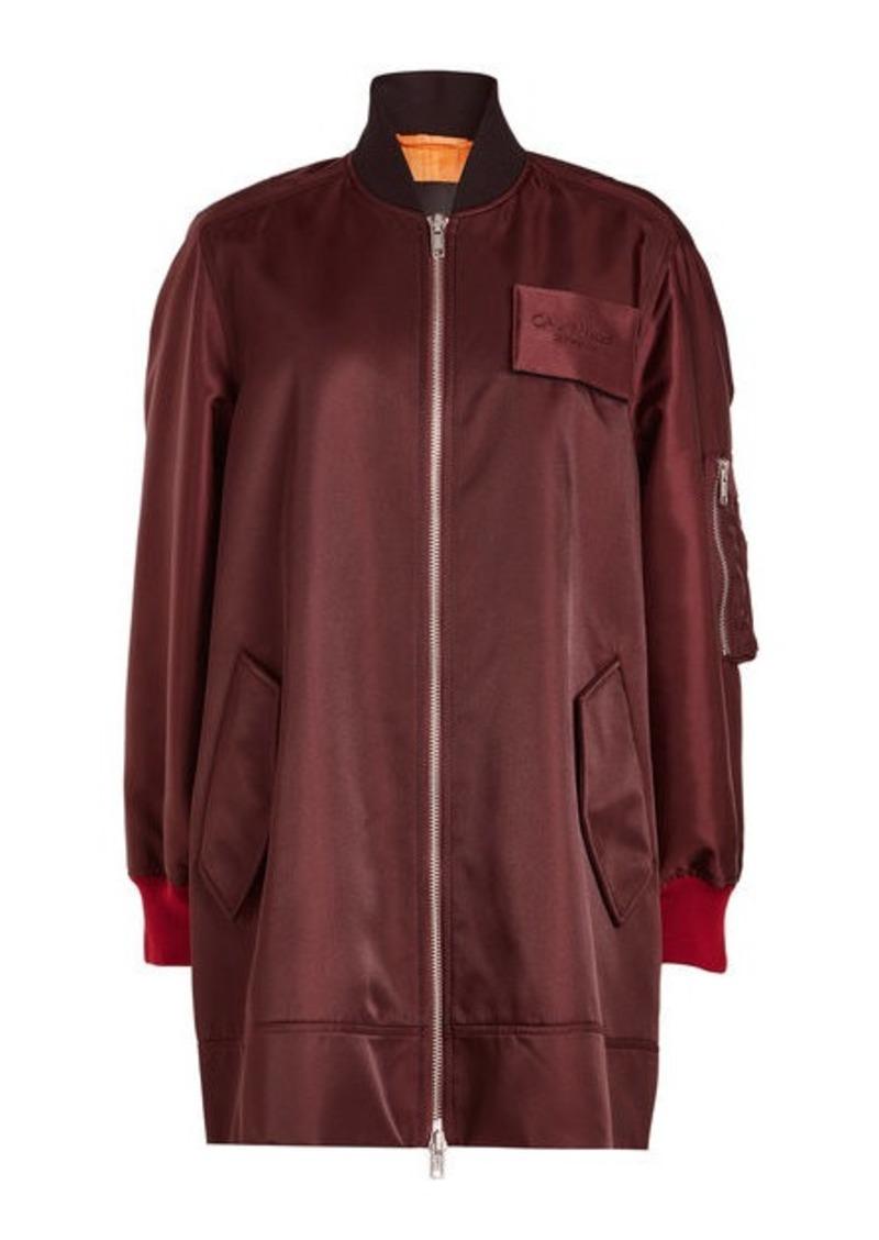 Calvin Klein Oversized Satin Bomber Jacket