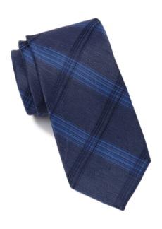 Calvin Klein Oversized Stitched Grid Tie - XL