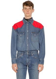 Calvin Klein Oversized Western Cotton Denim Shirt