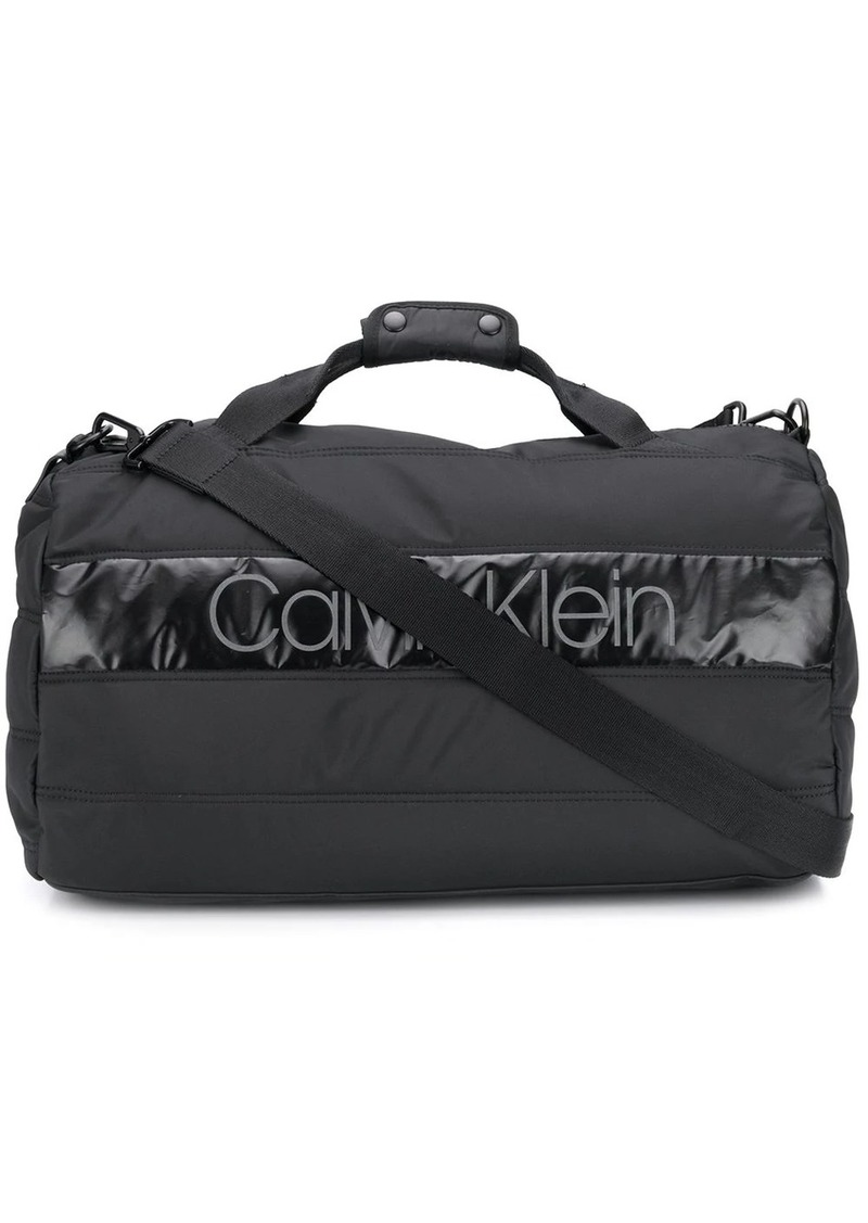 Calvin Klein padded logo patch holdall