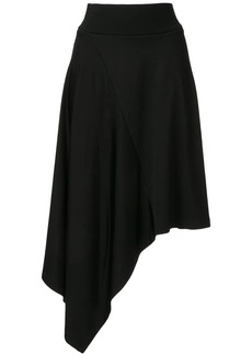 Calvin Klein paneled asymmetric skirt