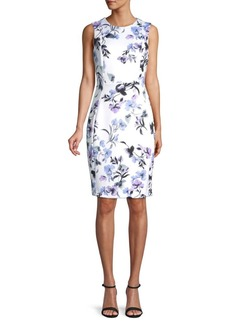 Calvin Klein Paneled Floral Sheath Dress