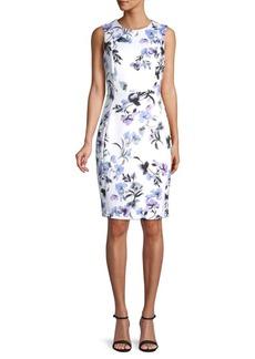 Calvin Klein Paneled Floral Sheath Dress