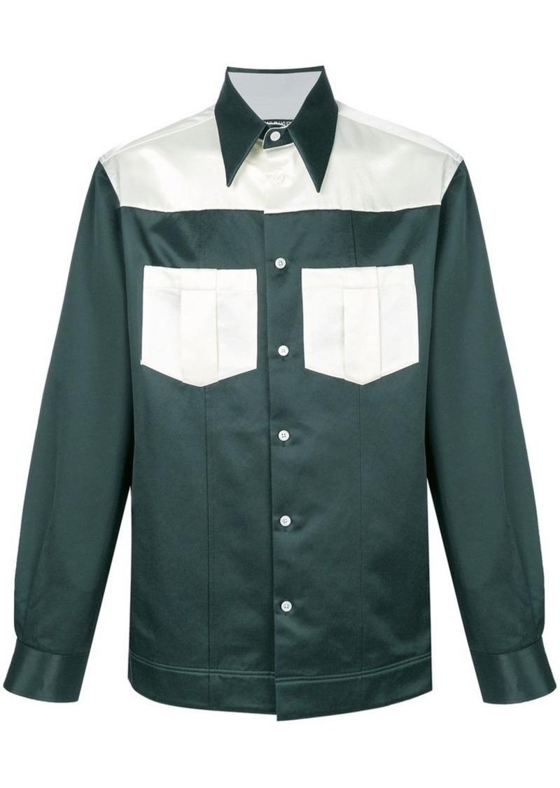 Calvin Klein panelled Western shirt