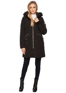 Calvin Klein Parka with Detachable Fur Trimmed Hood