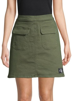 Calvin Klein Patch Pocket Mini Skirt