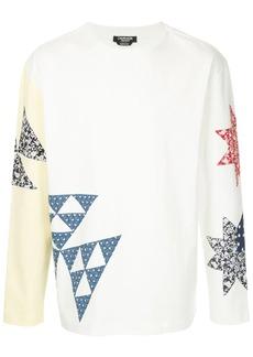Calvin Klein patchwork crew neck sweatshirt