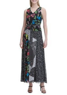 Calvin Klein Patchwork Floral Maxi Dress
