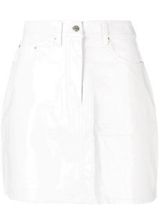 Calvin Klein patent mini skirt