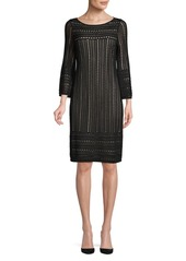 Calvin Klein Perforated Bell-Sleeve Shift Dress