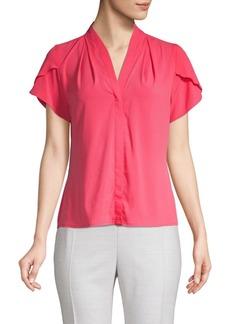 Calvin Klein Petal-Sleeve Top