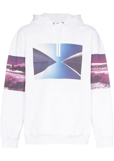 Calvin Klein photo print hooded jumper