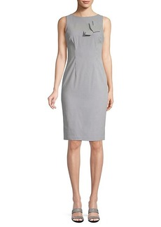 Calvin Klein Pinstripe Bow Sheath Dress
