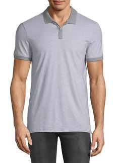 Calvin Klein Pinstripe Cotton Polo