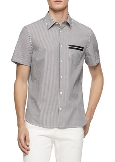 Calvin Klein Pinstriped Short-Sleeve Shirt