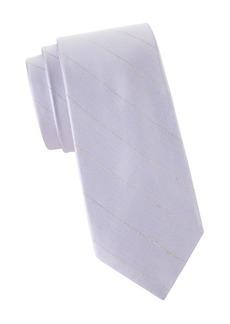 Calvin Klein Pinstriped Silk & Linen Tie
